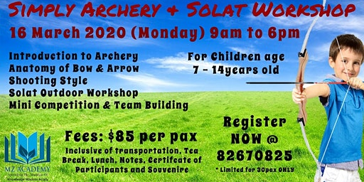 Simply Archery + Solat Workshop