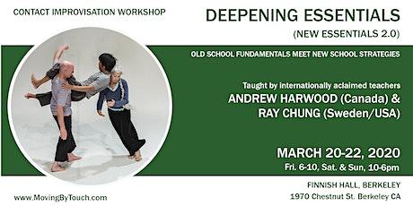 New Essentials 2.0. Deepening Intensive for Contact Improvisation practice tickets