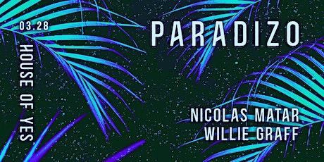 Paradizo: Nicolas Matar, Willie Graff tickets