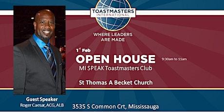 Mi Speak Toastmasters Club Open House tickets