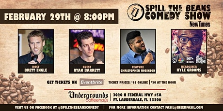 Spill the Beans Stand Up Comedy Show- Kyle Grooms (Comedy Central, NBC, BET, CBS & Last Comic Standing) tickets