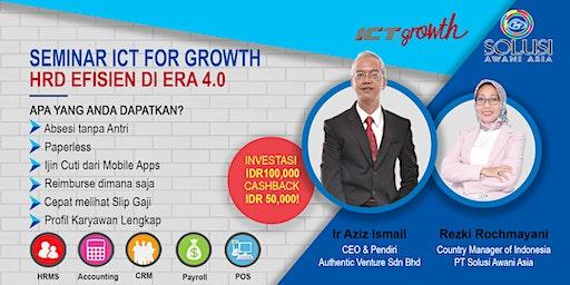 Seminar ICT For Growth - HRD Efisien di Era 4.0