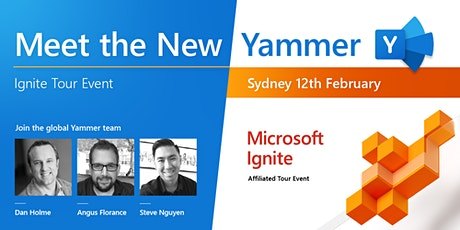 Meet the new Yammer - Ignite tour event Sydney tickets
