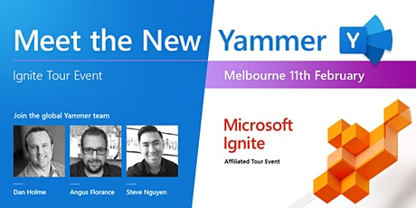 Meet the new Yammer - Ignite tour event Melbourne tickets