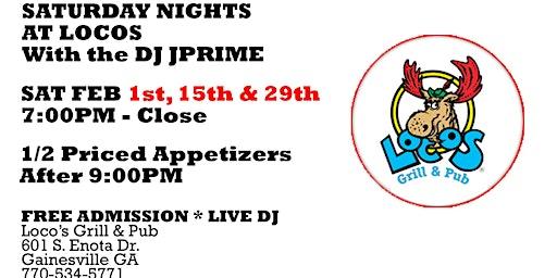 Saturday Nights with DJ JPrime