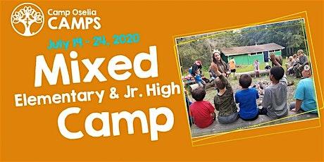 Mixed (Elementary & Jr. High) Camp tickets