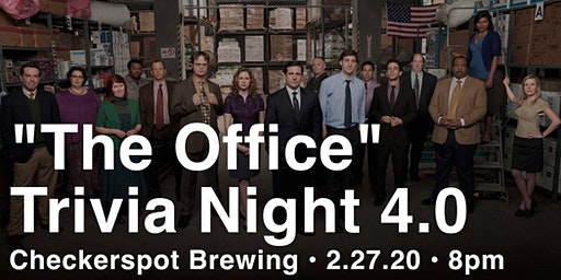 """The Office"" Trivia Night 4.0 at Checkerspot Brewing"
