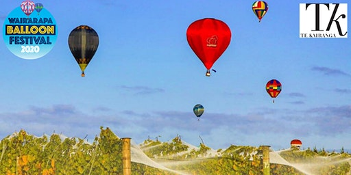 "Wairarapa Balloon Festival ""Te Kairanga's Meander Over Martinborough"""
