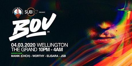 Coastal Promotions Presents: Bou (UK) - Wellington tickets