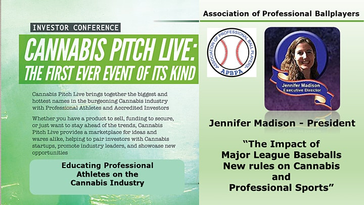 Cannabis Pitch Live  Professional Athletes and Investors Conference image