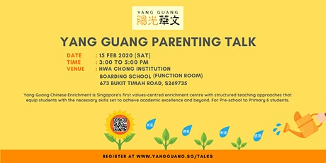 Free Parenting Talk: Hosted by Yang Guang Chinese Enrichment Centre tickets