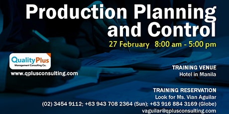Production Planning and Control tickets