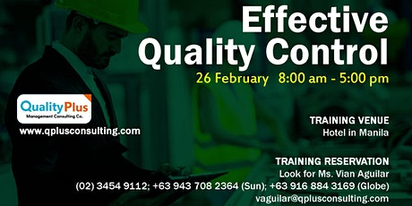 Effective Quality Control tickets