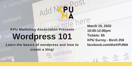KPUMA Presents: Wordpress 101 (KPU Surrey) tickets