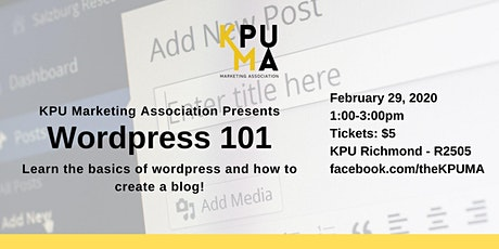 KPUMA Presents: Wordpress 101 (KPU Richmond) tickets