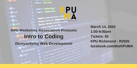 KPUMA Presents: Intro to Coding (Demystifying Web Development) tickets