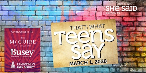 Spring 2020 That's What Teens Say Performance