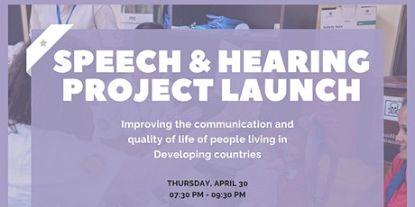 Speech & Hearing Project LAUNCH tickets