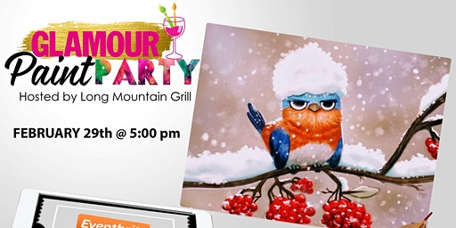 Saturday Night Paint Party At The Long Mountain Grill