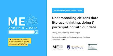 Understanding citizens data literacy - Report launch tickets