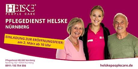 Eröffnungsfeier unseres Pflegedienstes HELSKE Nürnberg Tickets