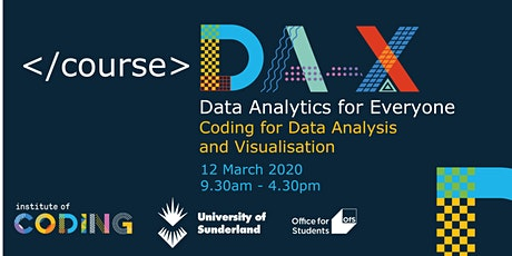 Data Analytics for Everyone: Coding For Data Analysis tickets