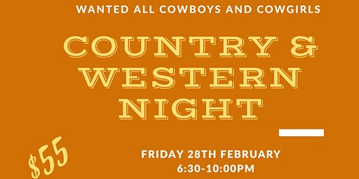 Country And Western Night