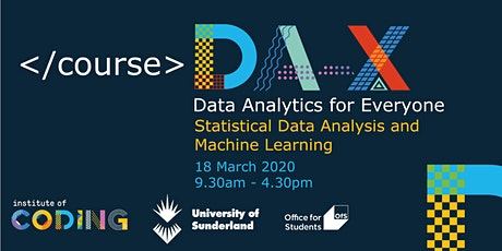 Data Analytics for Everyone: Statistical Data Analysis and Machine Learning tickets