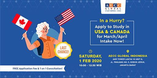Apply to Study in USA & Canada for March/April Intake Now!