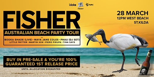 Fisher Australian Beach Party Tour | West Beach, St Kilda
