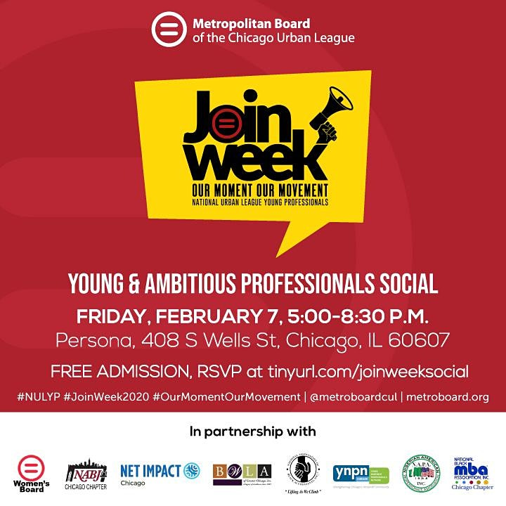 Young & Ambitious Professionals Social #JoinWeek2020 image