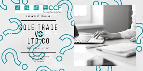 Sole Trade vs Ltd Co – What's best for you? tickets