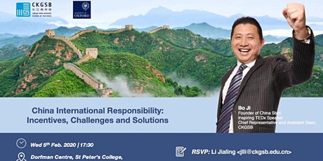 China International Responsibility: Incentives, Challenges and Solutions tickets
