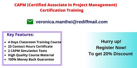 CAPM Certification Training In Duluth, WI tickets