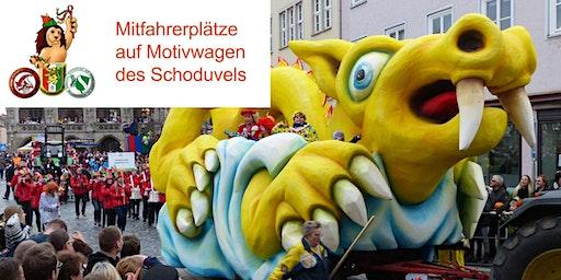 Wagenplätze beim Braunschweiger Karnevalszug SCHODUVEL
