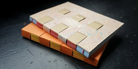 Bookbinding: A crossed structure notebook tickets
