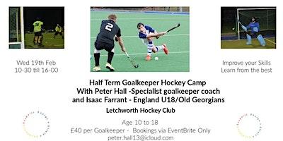 Goalkeeper Hockey Camp  - Peter Hall GK Coach and Isaac Farrant (Eng U18)