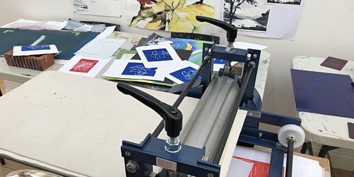 Printing making - Lino printing Easter theme with Jill Dow