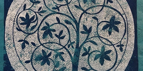 Printing making - Lino printing blue & white china theme with Jill Dow tickets