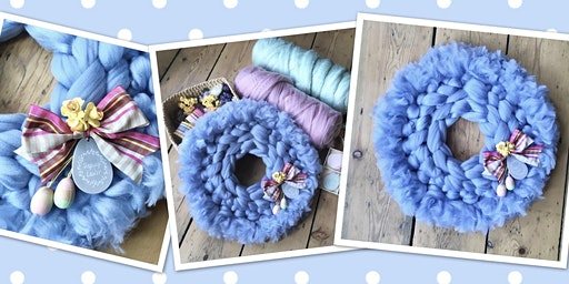 Easter Chunky Yarn Knit Wreath Workshop