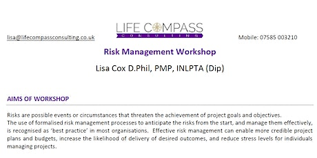RPMN Risk Management Workshop (only open to RPMN members) tickets