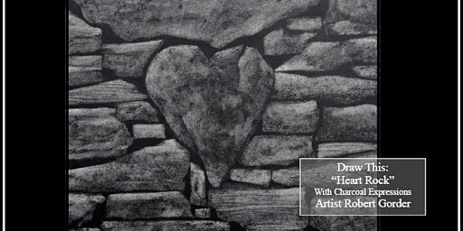 "Charcoal Drawing Event ""Heart Rock"" in Reedsburg"