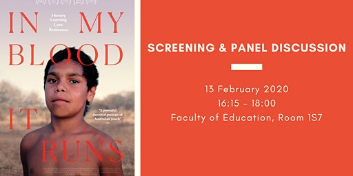 In My Blood It Runs: Film Screening & Panel Discussion