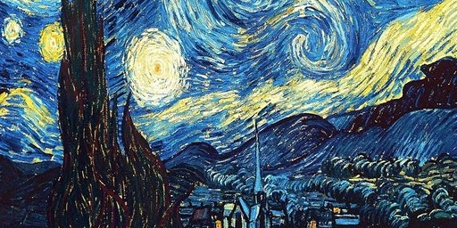 Van Gogh - Starry Night Painting - Wine and Paint
