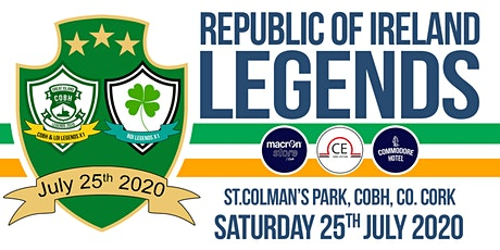 Repulic of Ireland Legends v Cobh Ramblers/LOI/Guests Select X1 tickets