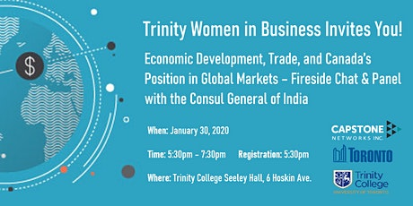 Canada's Position in Global Trade - Discussion with Consul General of India tickets