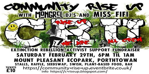 Community Rise Up fundraiser for Extinction Rebellion