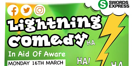 Lightning Comedy In Aid Of Aware tickets
