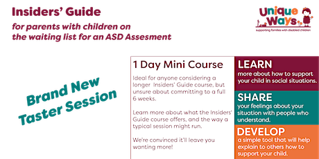 Insiders Guide ASD Assesment Taster Session tickets