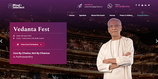 Vedanta Fest Talk Series: Live By Choice, Not By Chance - A. Parthasarathy
